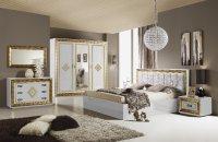 Спальня Белая с золотом